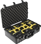 1555Air Case Black With Dividers