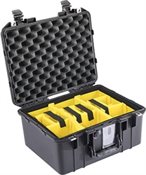1507AIR CASE BLACK WITH PADDED DIVIDERS