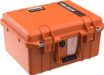1507AIR CASE ORANGE WITH PADDED DIVIDERS