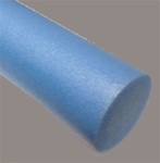 "6"" x 36"" Foam Exercise Roller Light Blue"